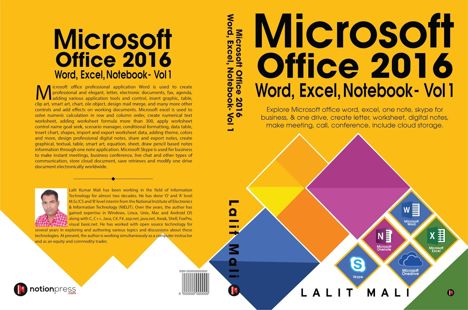 Microsoft Office Word Excel One Note Book