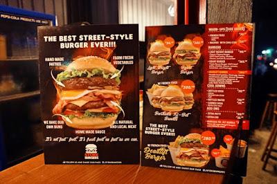 Stoke Burgers Menu