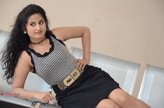 Actress Ankitha Stills in Short Dress at Kali Movie Audio Launch  0119.JPG