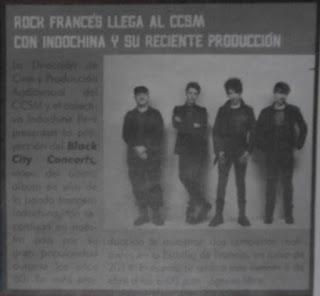 Rock francés de Indochine en el CCSM
