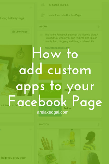 Customize your Facebook Page by adding customized app images using these 10 easy steps. | arelaxedgal.com