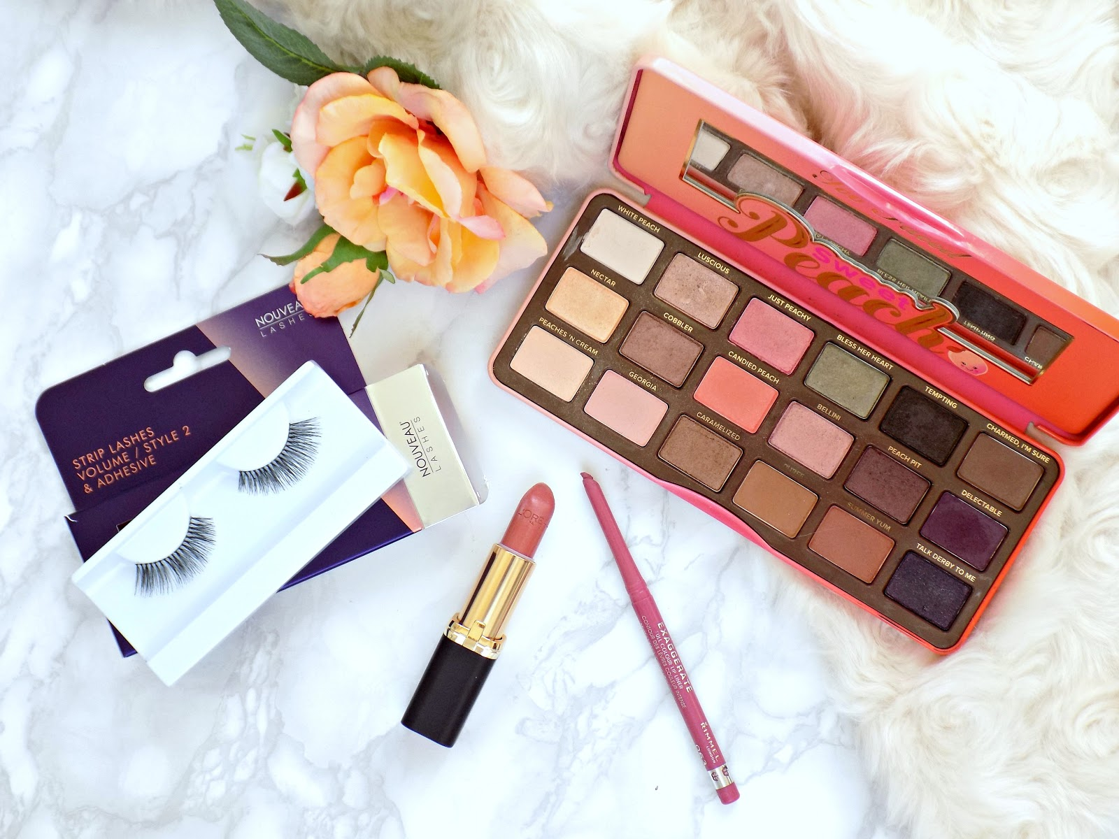 Too Faced Sweet Peach palette makeup look