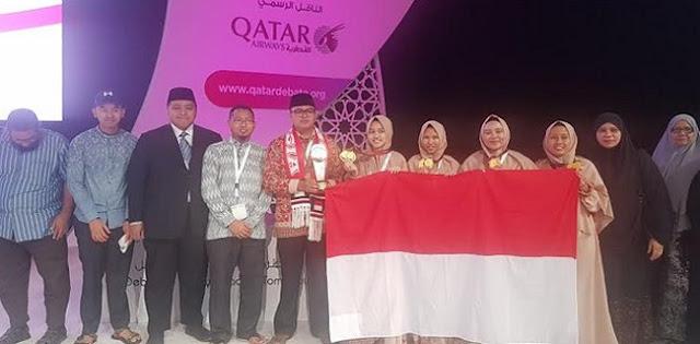 Indonesia Sambet Juara Pertama Di Perlombaan Debat Bahasa Arab Internasional Di Doha