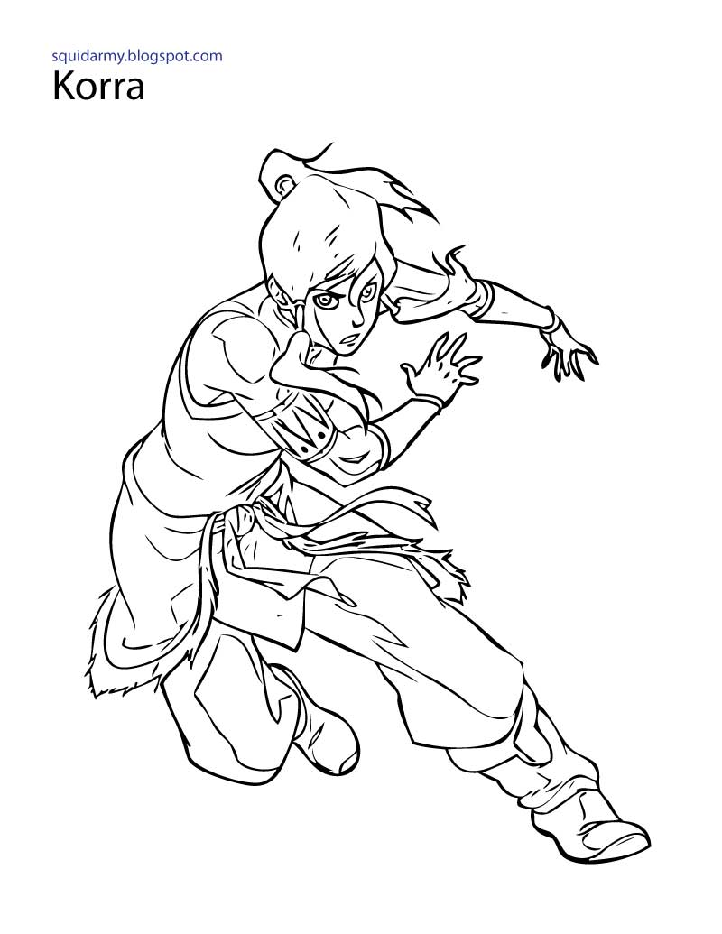 free legend of korra coloring pages | Avatar Legend of Korra Coloring pages - Squid Army