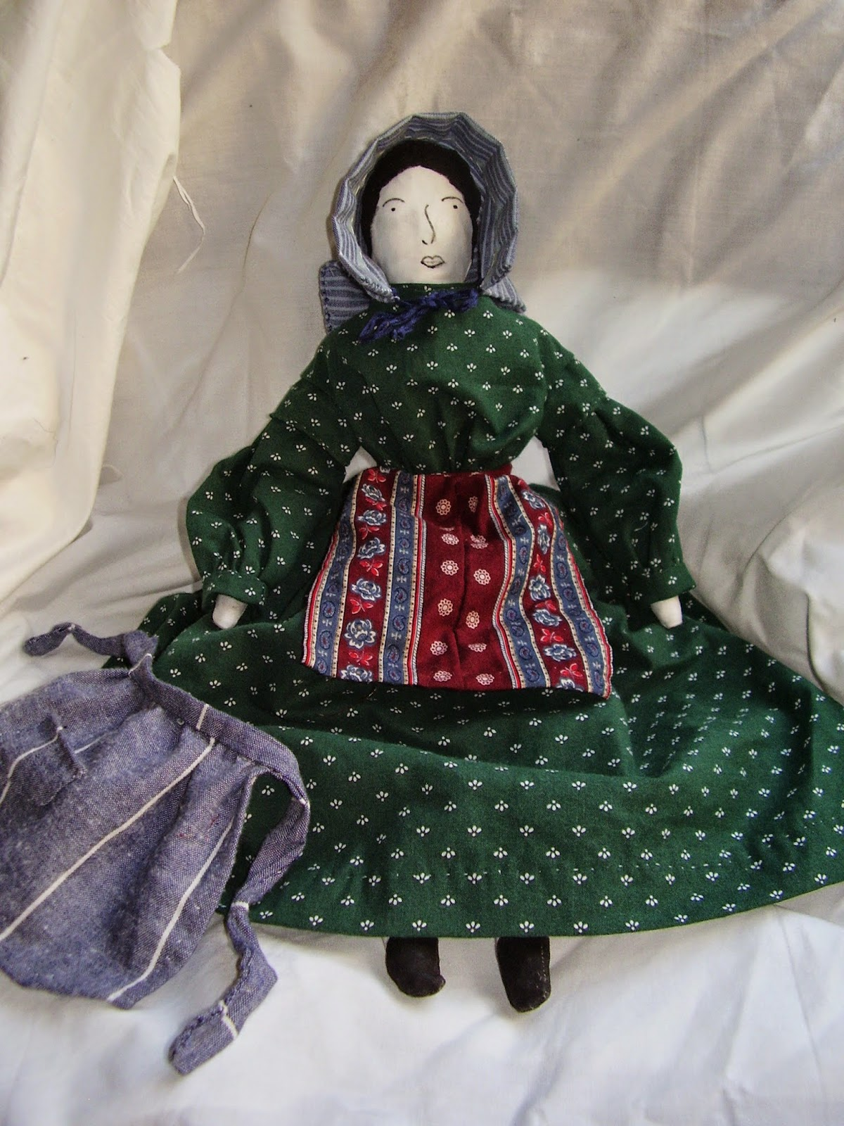 1850s/60s style cloth doll from HMP-400 pattern.