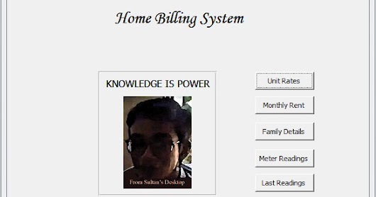 "A Database Application Program ""Home Billing System"" from Sultan's Desktop"