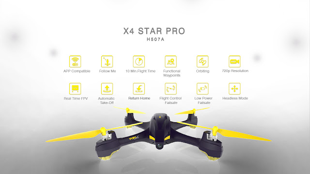 Hubsan H507A X4 star Pro Quadcopter Features