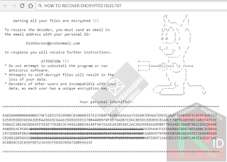 Scarab-DiskDoctor Ransomware note