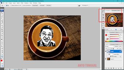 cara membuat foto pada secangkir kopi