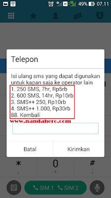 daftar promo paket sms tri murah ke semua operator 2018
