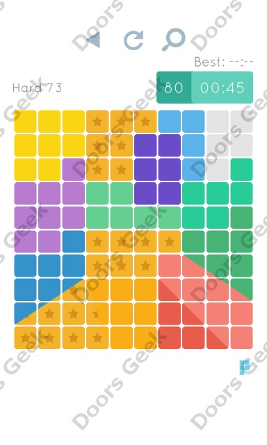 Cheats, Walkthrough for Blocks and Shapes Hard Level 73