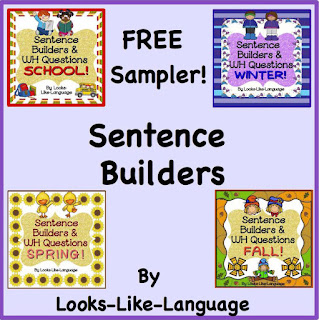 Sentence Builder Freebie from Looks-Like-Language