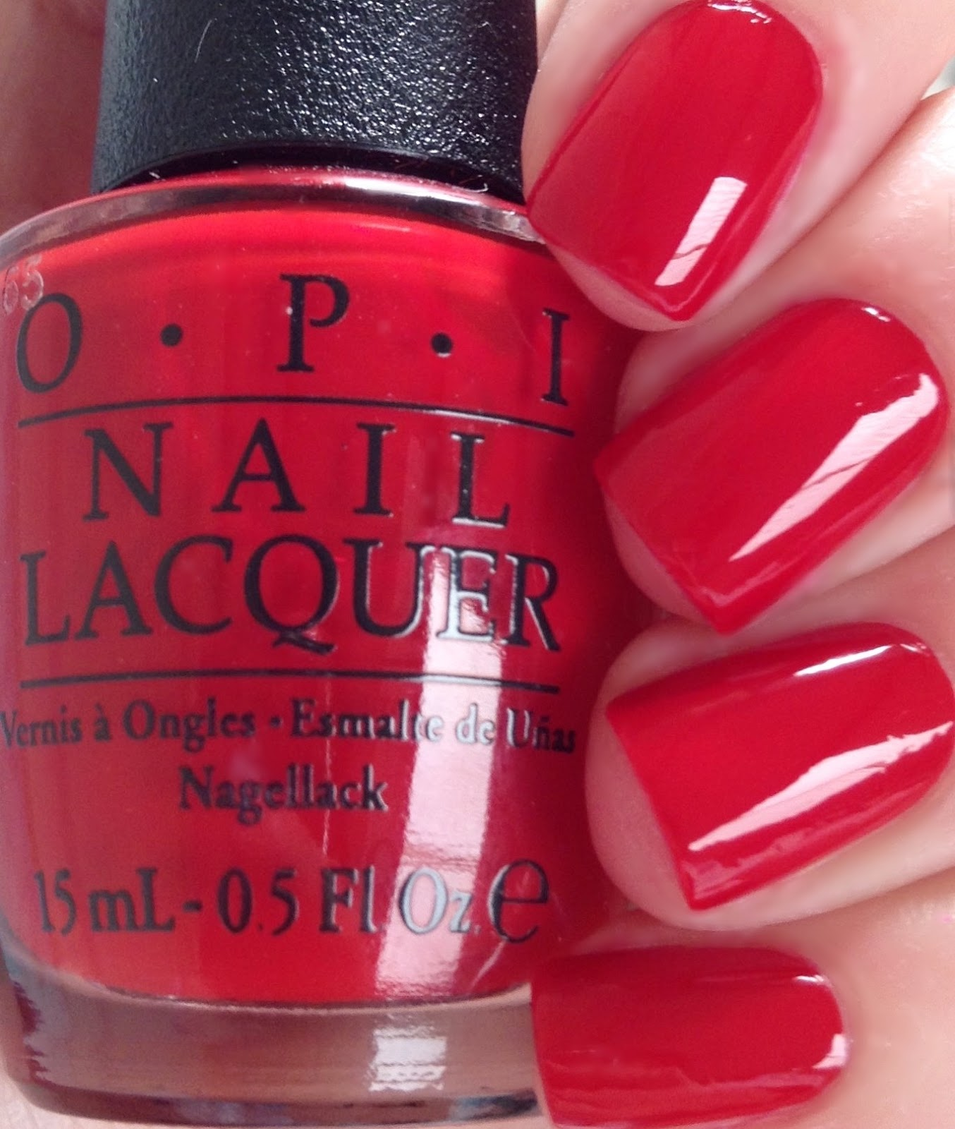 Having A Head Day Is Bright Fire Engine Red Nail Polish Shade