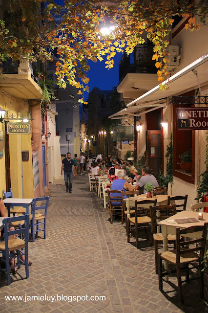 Dining at Old Town, Chania, Crete, Greece