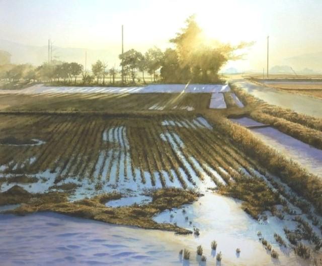 Рисунки акварелью. Abe Toshiyuki