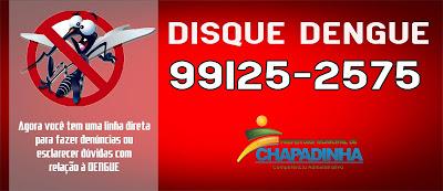 Lançamento do Disque Dengue, em Chapadinha