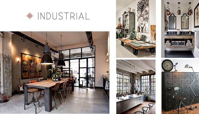 estilo industrial decoración interiorismo