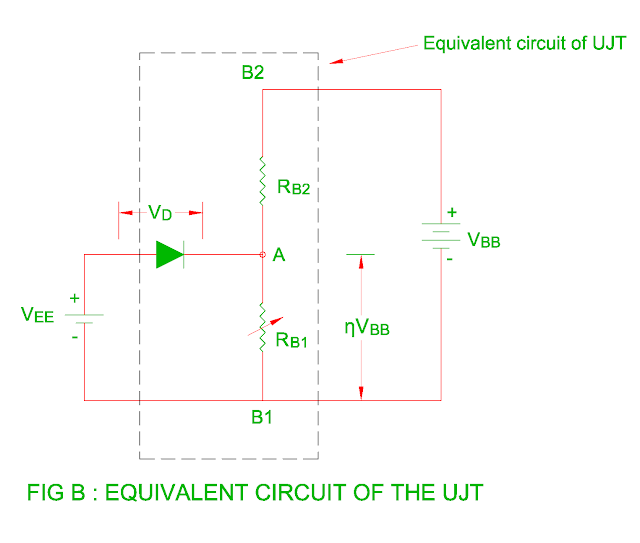 equivalent circuit of the ujt