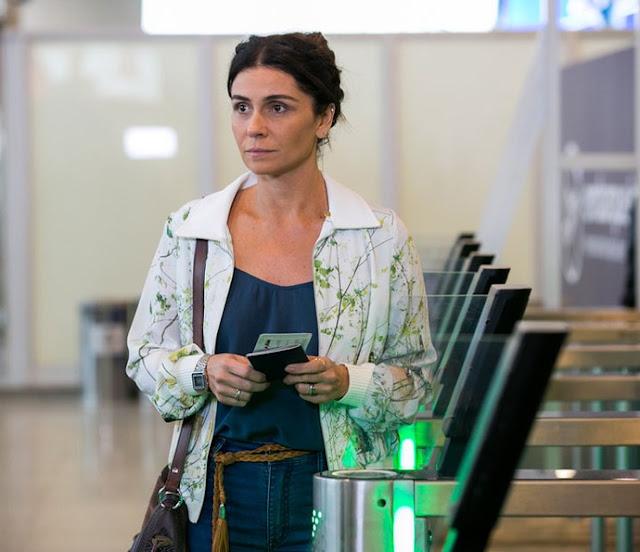 Alice (Giovanna Antonelli) figurino, Sol Nascente, cena aeroporto