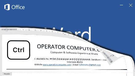 Cara Membuat Kop Surat Otomatis Muncul di Halaman Word 2016