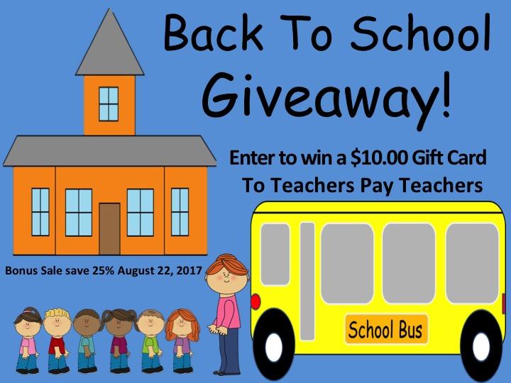 123kteacher blog : $10.00 Teachers Pay Teachers Gift Card Giveaway ...