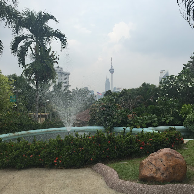 City view of Kuala Lumpur from the park http://psychologyfoodandfitness.blogspot.com/
