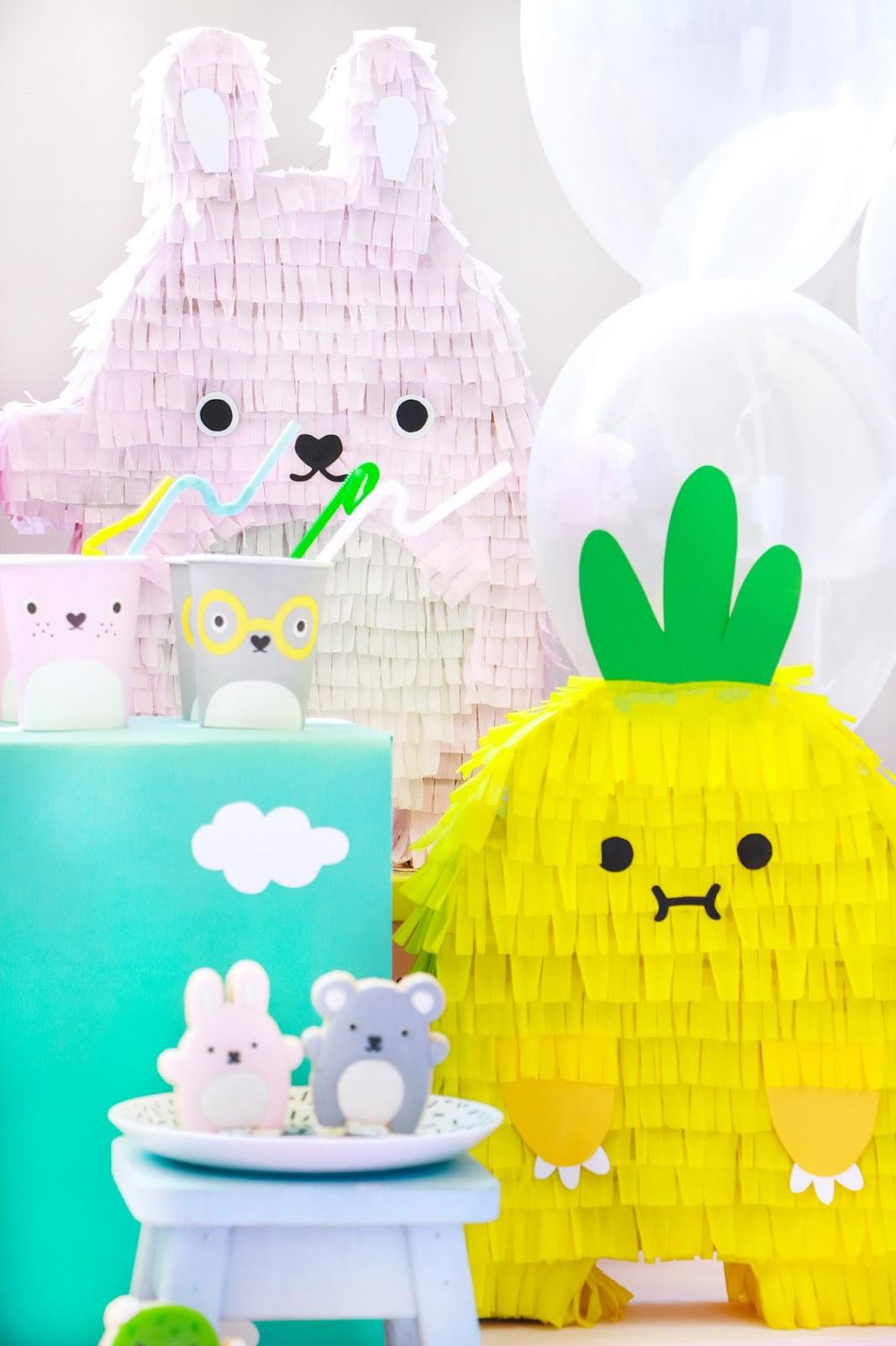 DIY faça você mesmo pinata noodoll kids pet party