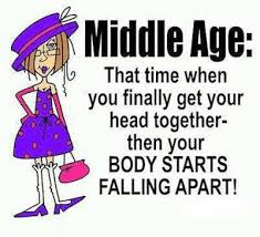 Funny middle age quote picture