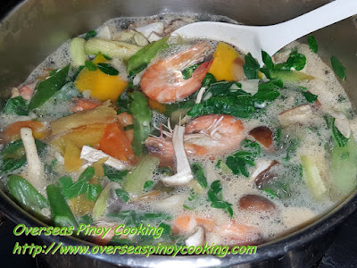 Laswa with Pasayan - Cooking Procedure