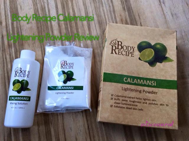 HBC Body Recipe Calamansi Lightening Powder Review