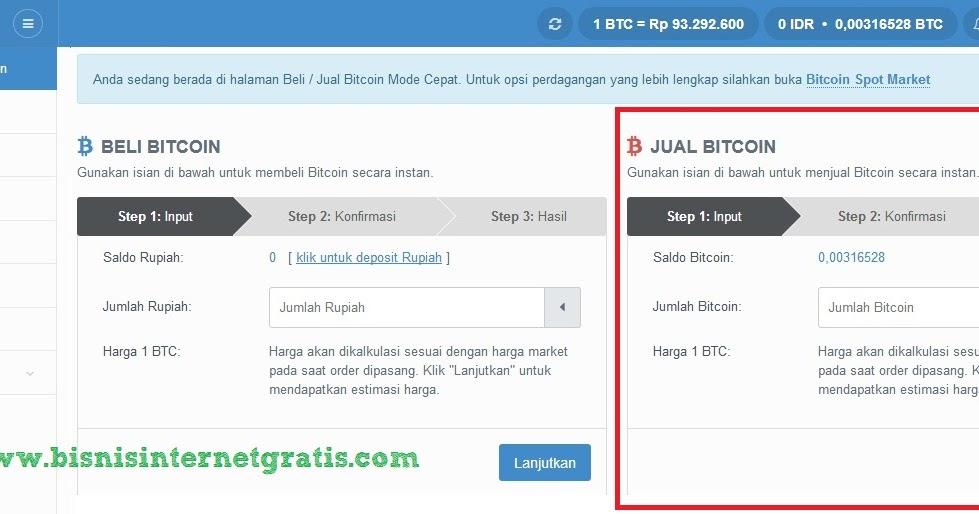 cara menukarkan bitcoin ke rupia