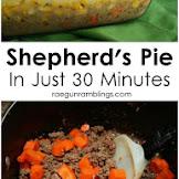 30 Minute Shepherd's Pie Recipe
