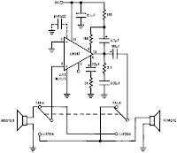 LM390 SIMPLE 2-WAY INTERCOM CIRCUIT SCHEMATIC DIAGRAM