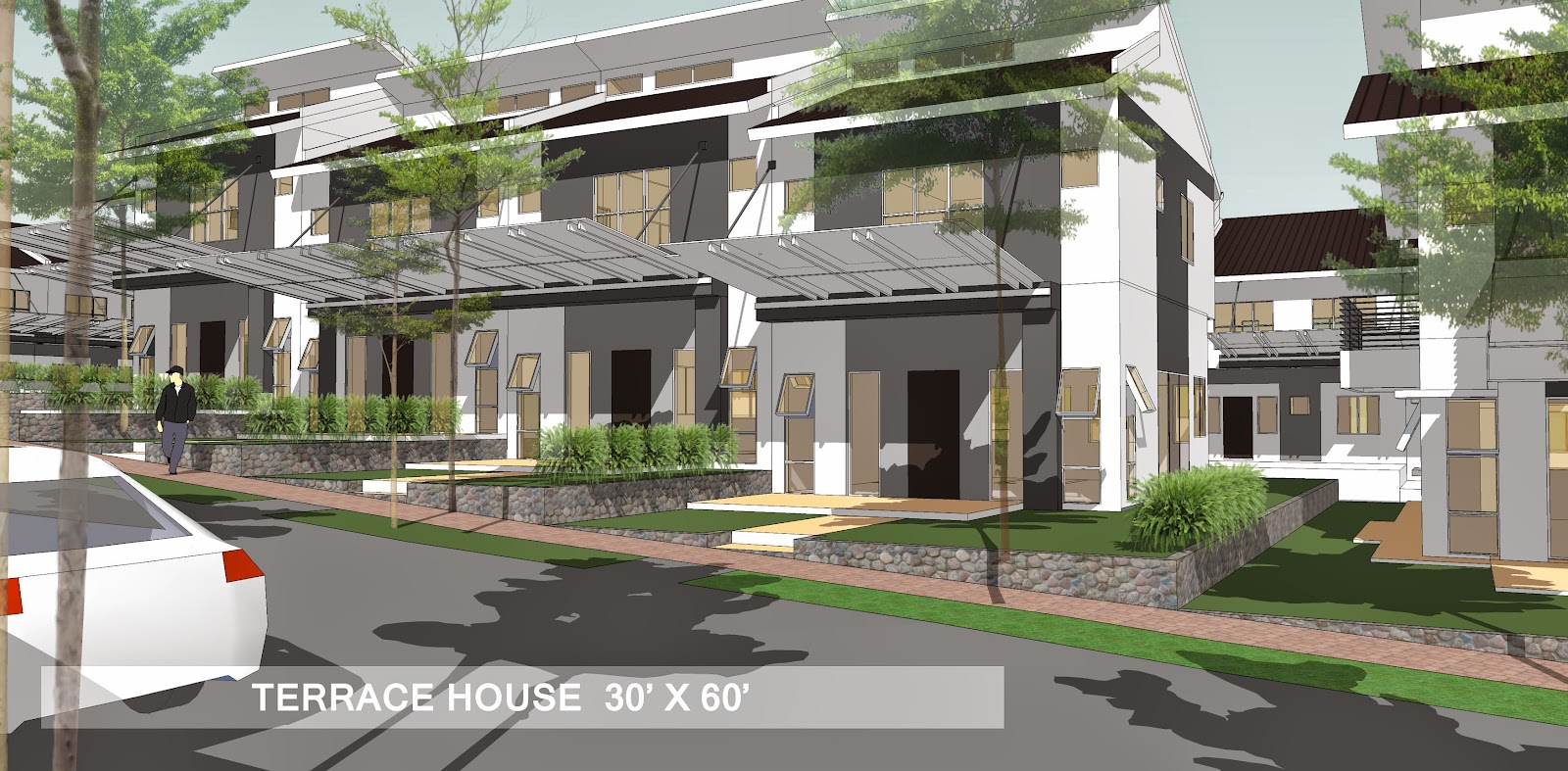 Affordable low and high rise honeycomb housing a mixed for House and terrace