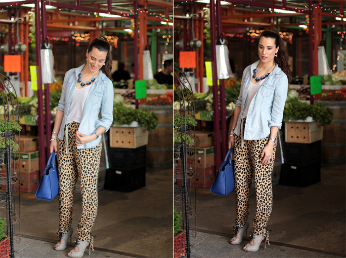 how to style leopard print pants