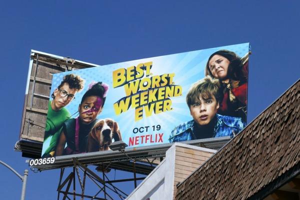 Best Worst Weekend Ever series billboard