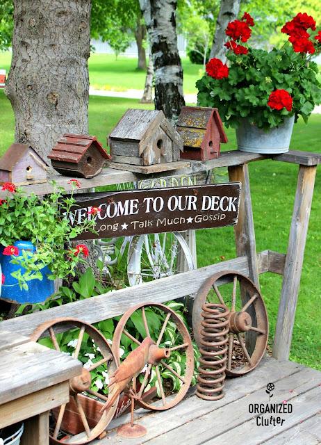Junk Garden Vignette organizedclutter.net