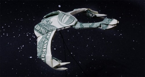 birds of prey dollar bill origami