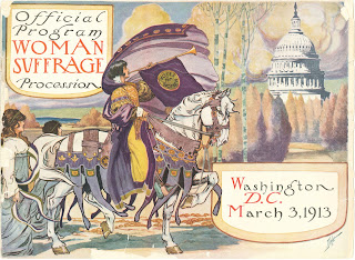 "An illustrated program for the ""Woman Suffrage Procession."""
