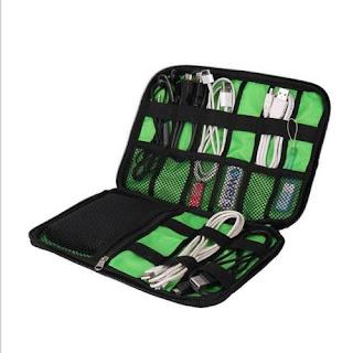Cable Organizer Bag System Kit Mini Case for USB Flash Drive Storage Travel FI