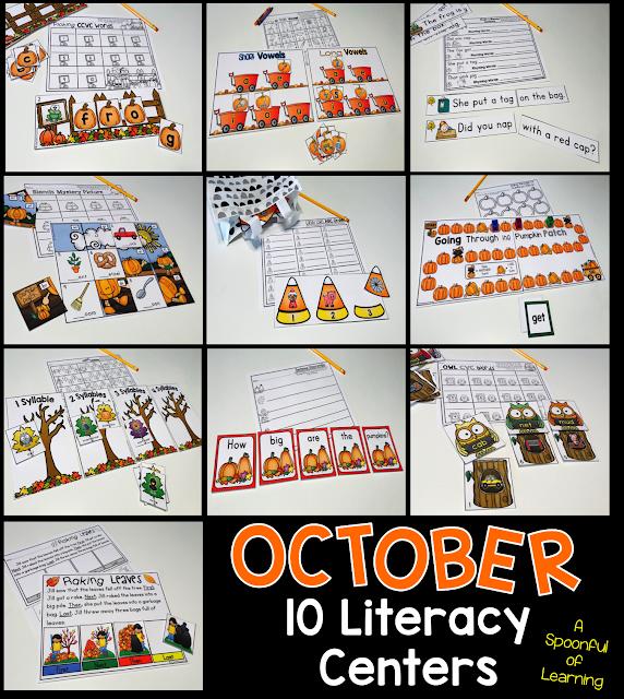 October Centers - 10 Literacy Center