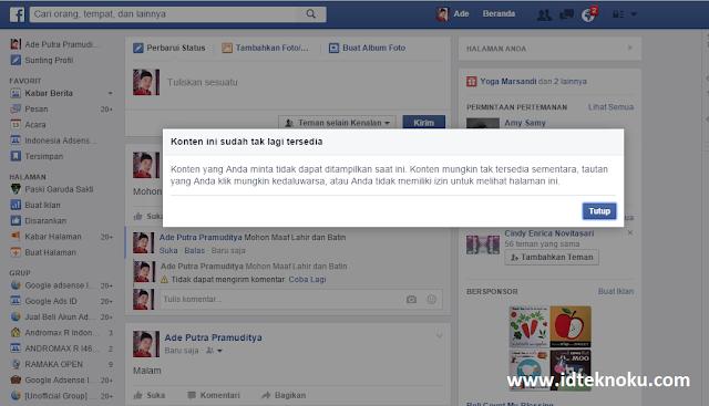 """Alasan Mengapa Ketika Menulis """"Mohon Maaf Lahir dan Batin"""" di Facebook tidak Bisa"""