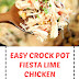 Easy Crock Pot Fiesta Lime Chicken