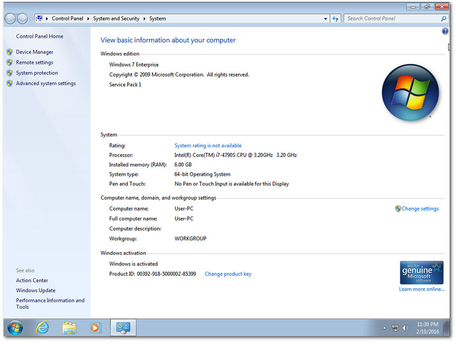 Windows 7 Ultimate Sp1 x86/x64 6in1