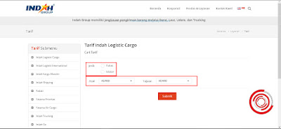 Setelah di halaman tarif kiriman silakan kalian isi kolom Cari Tarif dengan data-data paket yang ingin kalian kirimkan seperti Jenis Paket, Asal, dan Tujuan
