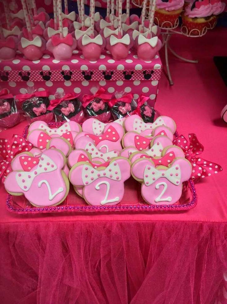 Decoraci n de fiesta de minni mouse fiestas infantiles for Decoracion fiesta infantil nina