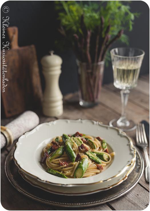 Spaghetti mit Spargelcarbonara