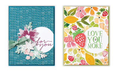 Stampin' Up! Designer Paper Inspiration: 3 Card Layouts, 6 Different Cards