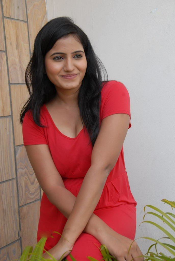 Tanusha hot in red dress