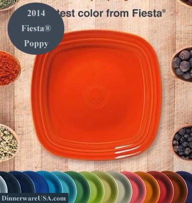 Dr. Dinnerware: Fiesta Poppy - New Fiesta Color for 2014